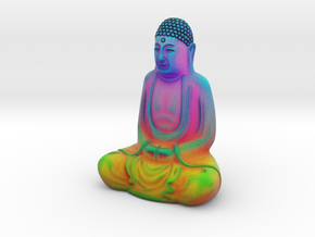Textured Buddha: chakras, heatmap, rainbows! in Full Color Sandstone