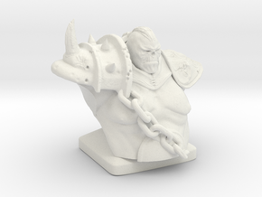 Troll warrior  in White Natural Versatile Plastic
