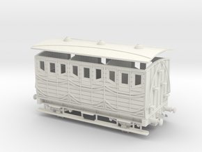 Spanish early wooden carriage 1st 00 Gauge 1:76 in White Natural Versatile Plastic