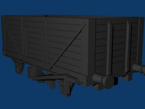 High Goods Wagon - 8 Plank Z 1:220 in Smooth Fine Detail Plastic