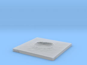 Arizona Meteor Crater 4 inch or 100mm in Smooth Fine Detail Plastic