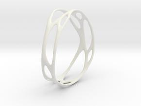 Branching No.3 in White Natural Versatile Plastic