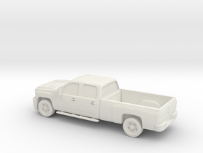 1/87 2011 Chevrolet Silverado HD Crew Cab Long Bed in White Natural Versatile Plastic
