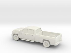 1/87 2011 Chevrolet Silverado HD Crew Cab Long Bed in White Strong & Flexible