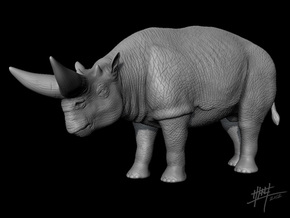 Arsinoitherium 1/72 in White Natural Versatile Plastic