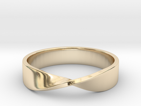 Mobius Ring (Size 7) in 14K Yellow Gold