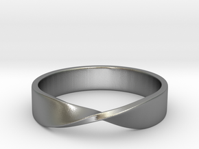 Mobius Ring (Size 7) in Natural Silver
