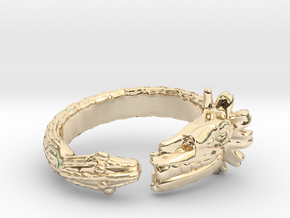 Anillo Quetzalcoatl in 14K Yellow Gold