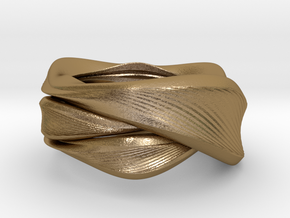 Ossis Bracelet  in Polished Gold Steel