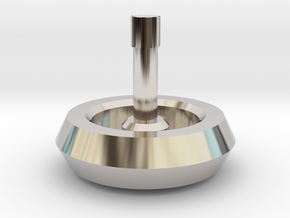 Spinning Top in Rhodium Plated Brass