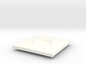 Arizona Meteor Crater 2 inch or 50mm in White Processed Versatile Plastic