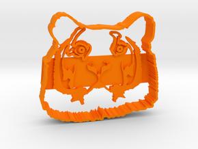The Tiger in Orange Processed Versatile Plastic