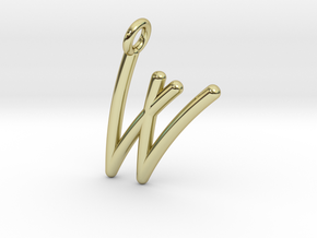 W in 18k Gold Plated