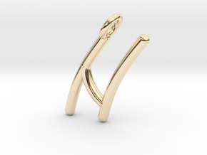 N in 14K Yellow Gold