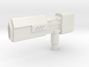Positron Blaster in White Natural Versatile Plastic