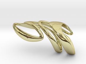 AKUSENTO Ring in 18k Gold Plated Brass