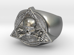 Saint Vitus Ring Size 15 in Natural Silver