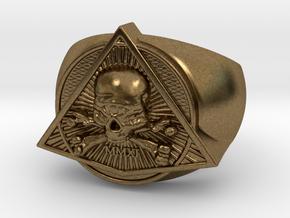 Saint Vitus Ring Size 6 in Natural Bronze