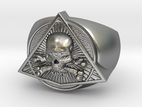 Saint Vitus Ring Size 6 in Natural Silver