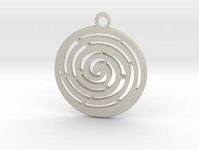 Spiral maze pendant  in Natural Sandstone