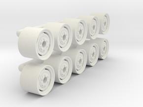 "1/64 15"" Implement Wheel in White Natural Versatile Plastic"