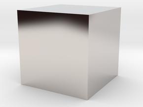 A Cube in Platinum