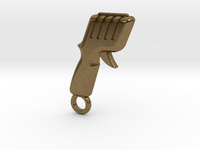 Slot Car Controller Keychain in Natural Bronze