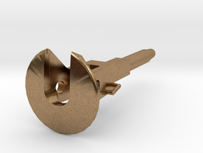 Coupler for D29 Pockets 1:48 in Natural Brass