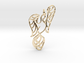 Openwork phoenix Pendant in 14k Gold Plated Brass