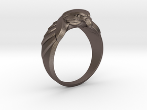 Eagle Ring 19mm in Polished Bronzed Silver Steel