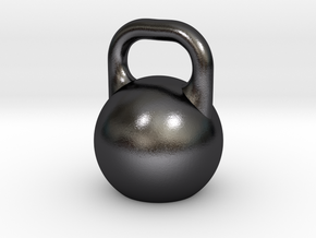 Kettleball Pendant in Polished and Bronzed Black Steel