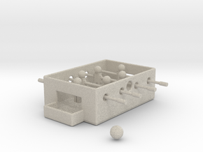 Mini Foosball Table in Natural Sandstone