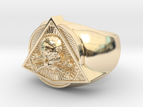 Saint Vitus Ring Size 5 in 14k Gold Plated Brass