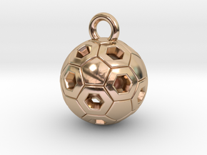 SOCCER BALL B in 14k Rose Gold Plated Brass