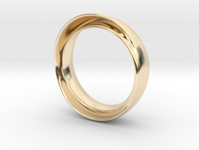 "'Endless Flow' - 16.5cm / 0.65"" - Size 6 in 14k Gold Plated Brass"