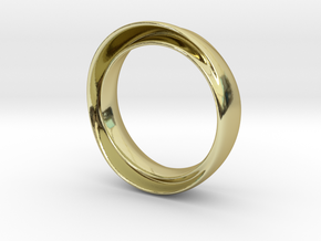 "'Endless Flow' - 16.5cm / 0.65"" - Size 6 in 18k Gold"