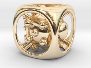 Dice No.1 L (balanced) (3.6cm/1.42in) in 14k Gold Plated Brass