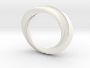 "'Highway' - 16.5cm / 0.65"" - Size 6 in White Processed Versatile Plastic"