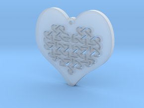 Celtic Knot heart Necklace Pendant in Smooth Fine Detail Plastic