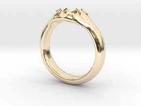Scalloped Ring (size 5.5) in 14k Gold Plated Brass