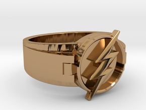 V2 Flash Ring Size 11.5 21.08mm in Polished Brass