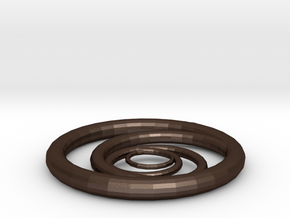 Orbiting Circle Pendant Single Loop in Matte Bronze Steel