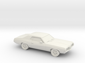 1/87 1966-69 Mercury Cougar in White Natural Versatile Plastic