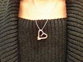 TWO HEARTS ONE LOVE in 14k Rose Gold Plated Brass
