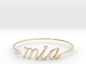 MIA Wire Bracelet (Miami) in 14k Gold Plated Brass