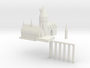 Hogwarts 1 in White Natural Versatile Plastic