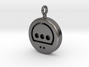 N64 His Controller Pendant in Polished Nickel Steel