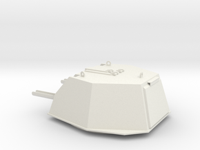 1:16 scale model of DShKM-2BU turret for Soviet WW in White Natural Versatile Plastic