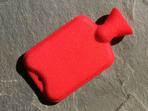 Hot Water Bottle Mini Bead in Red Processed Versatile Plastic