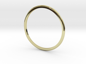 "Ring 'Subtle' - 16.5cm / 0.65"" - Size 6 in 18k Gold"